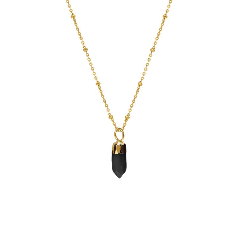 Mini Point Black Onyx Pendant image