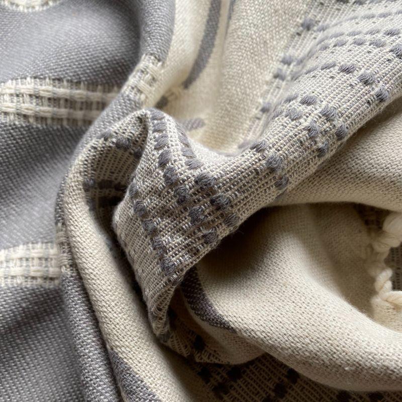 Defne Deluxe Organic Cotton Peshtemal - Ash image