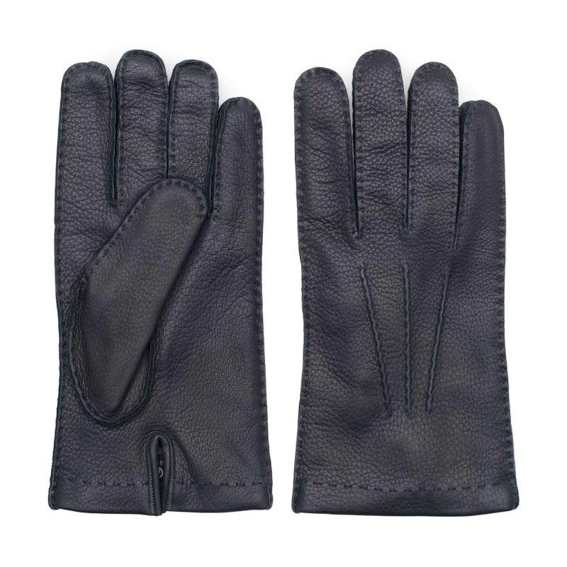 Handmade Deer Leather Gloves Blue Emanuele image