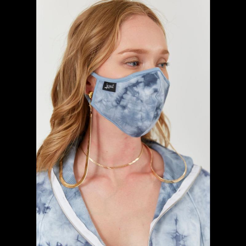 Dusty Blue Tie Dye Face Mask image