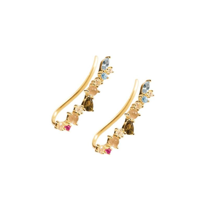 Rainbow Gold Earrings Infinite image