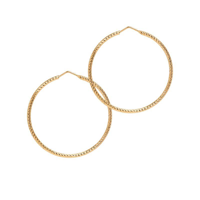 La Roma Medium Gold Hoops image