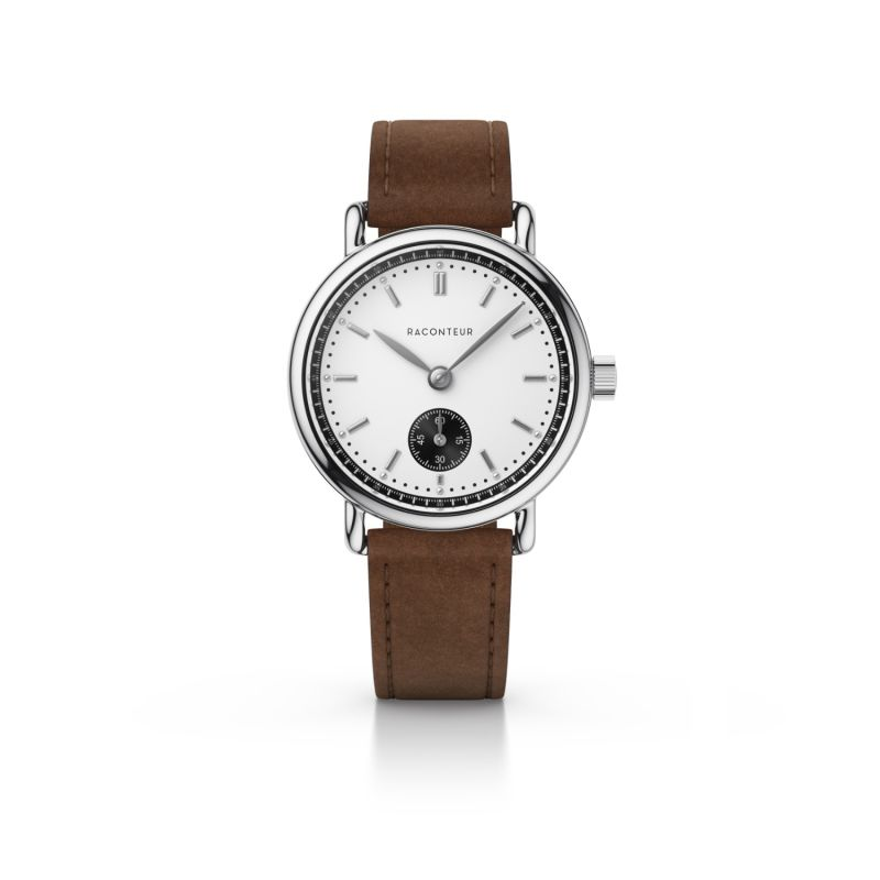 Earhart Silver White - Coffee Suede image