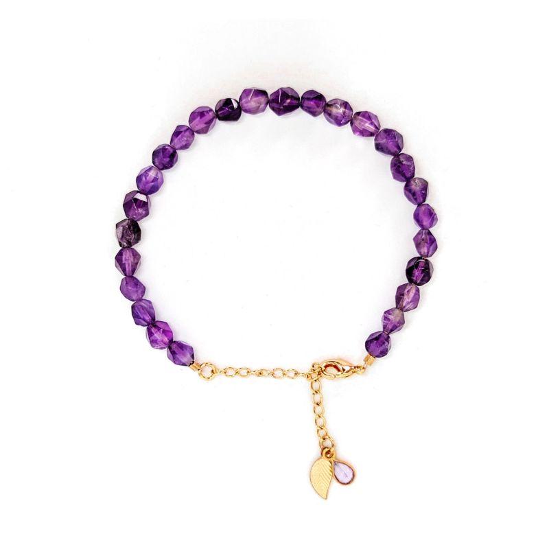 Amethyst Gold Chain Bracelet image
