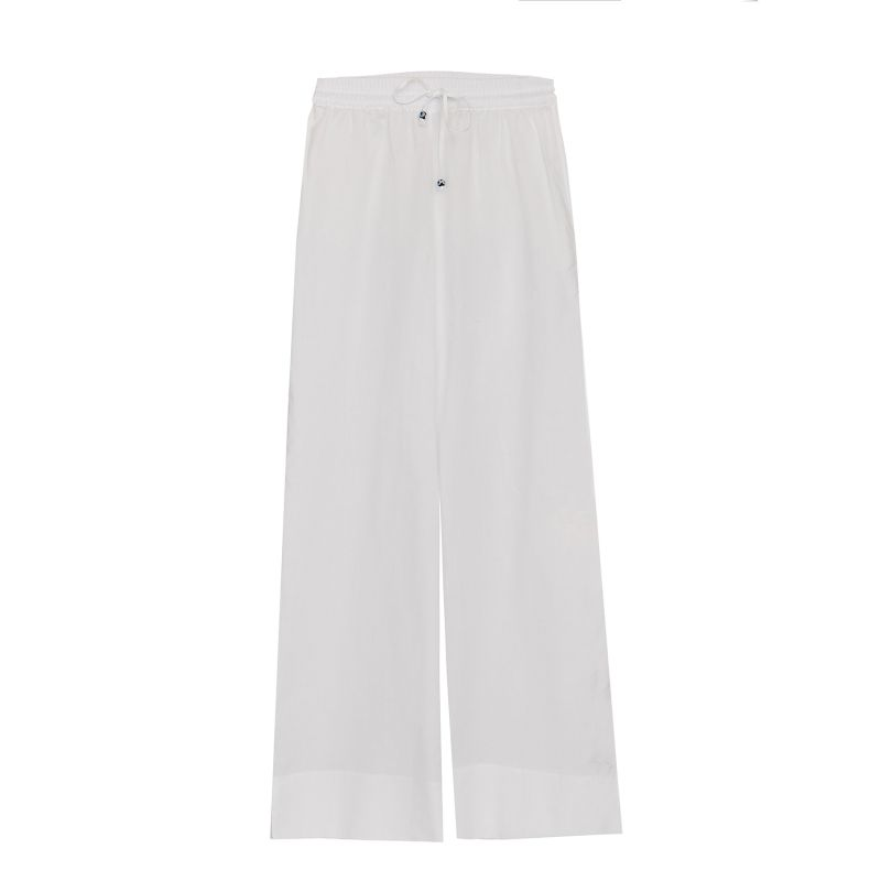 Pull-on Organic Cotton Trousers in White image