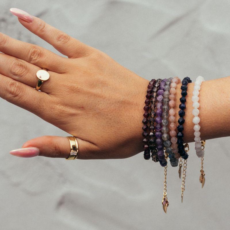 Smoky Quartz Chain Bracelet image