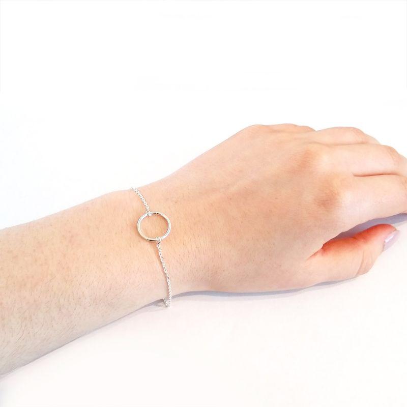 Silver Circle Bracelet image
