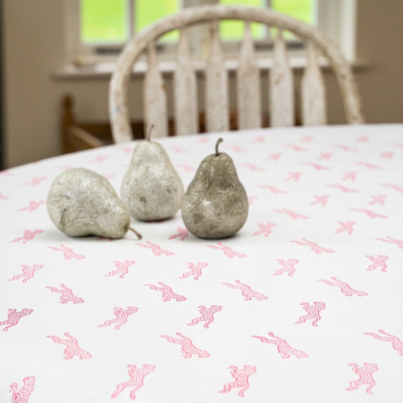 Pink Cheetah Tablecloth Round image