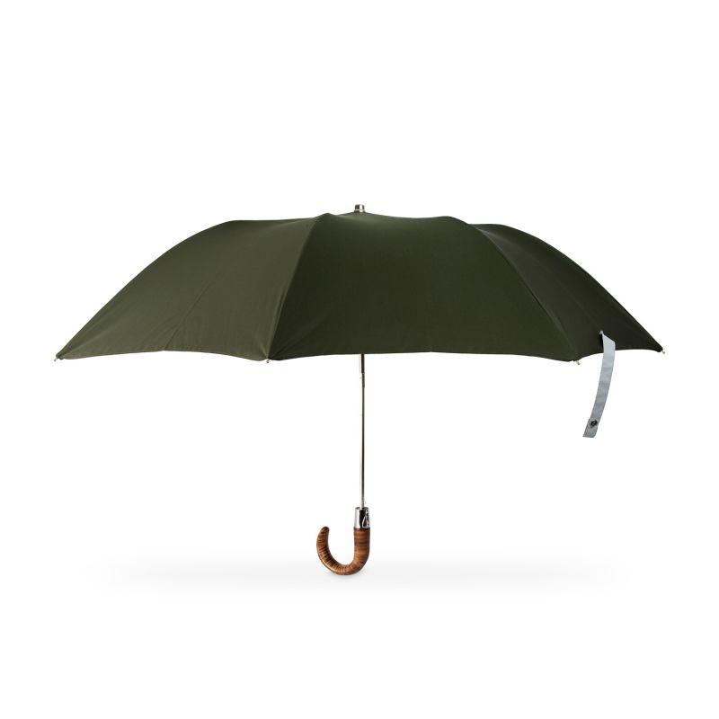 British Folding Umbrella Racing Green/Grey image