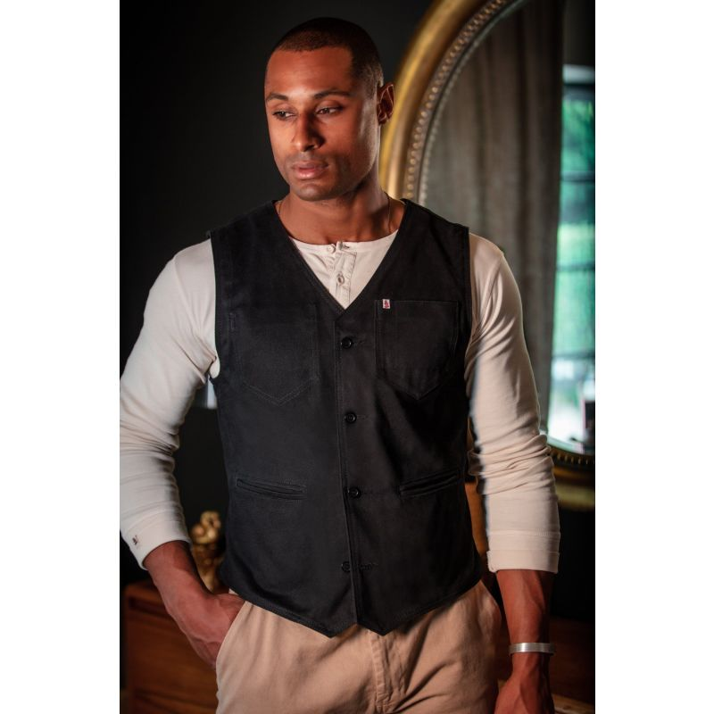 &Sons Black Lincoln Waistcoat image