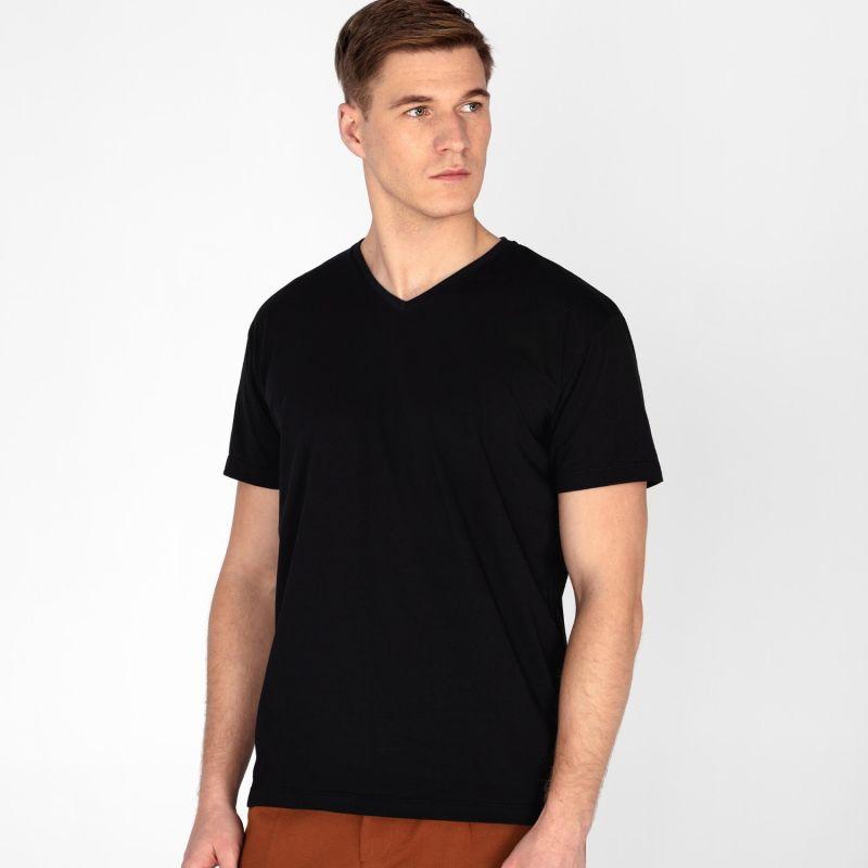 Men's V-Neck T-Shirt Black image