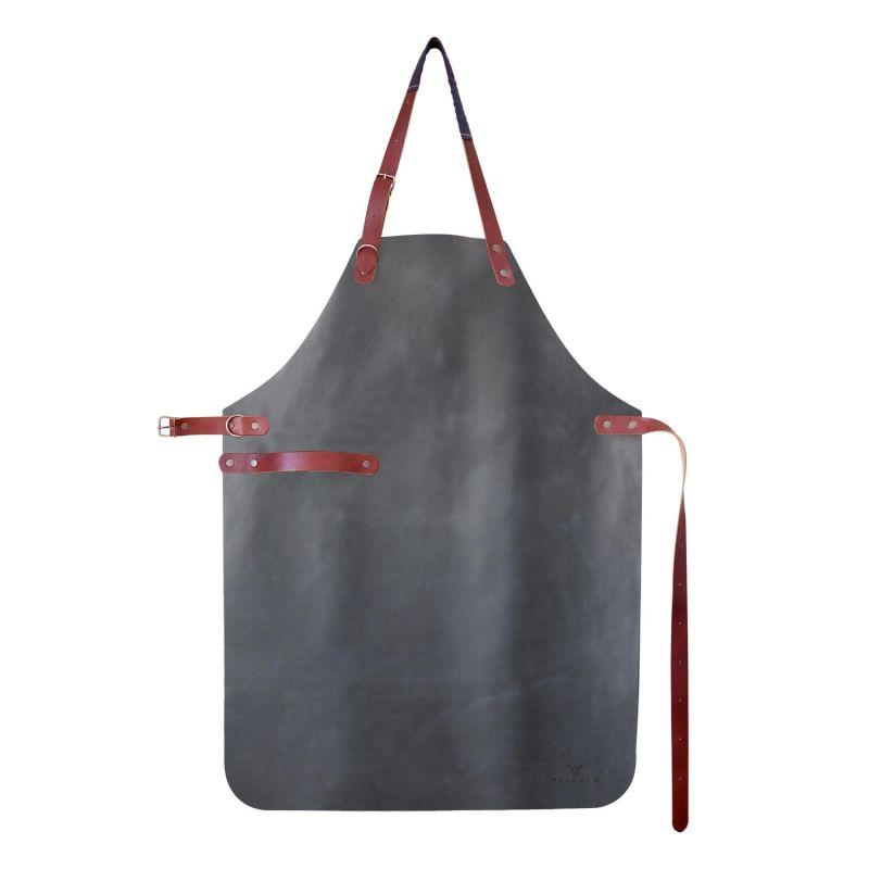 Natural Leather Apron - Limited Series - Indigo image