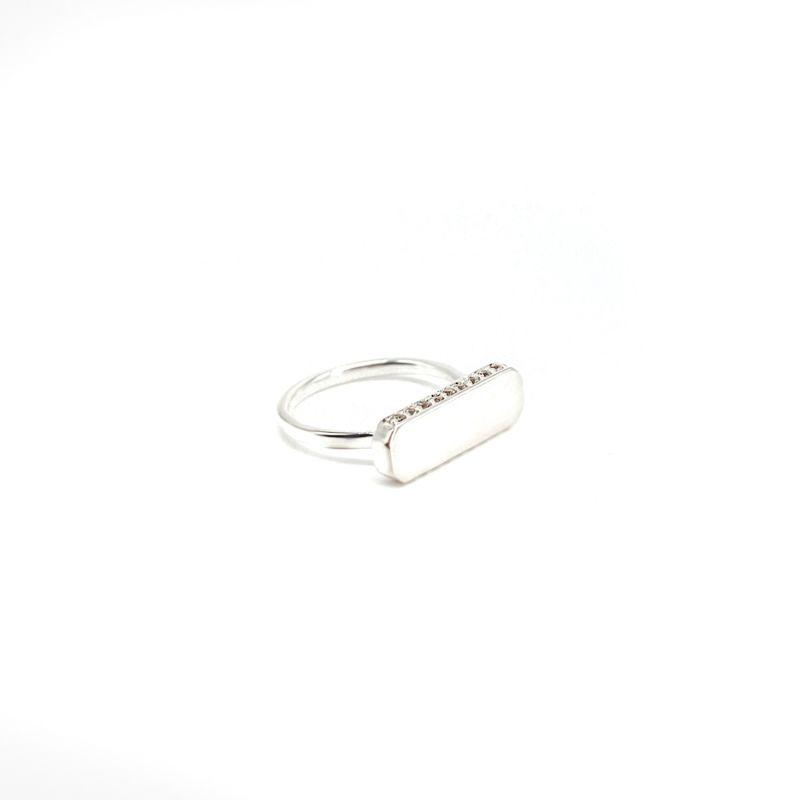 Iliam White Topaz Silver Ring image