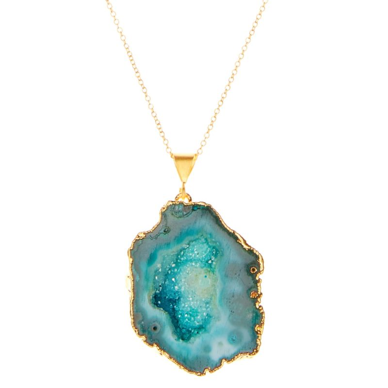Green Rocks In The Sky Necklace image