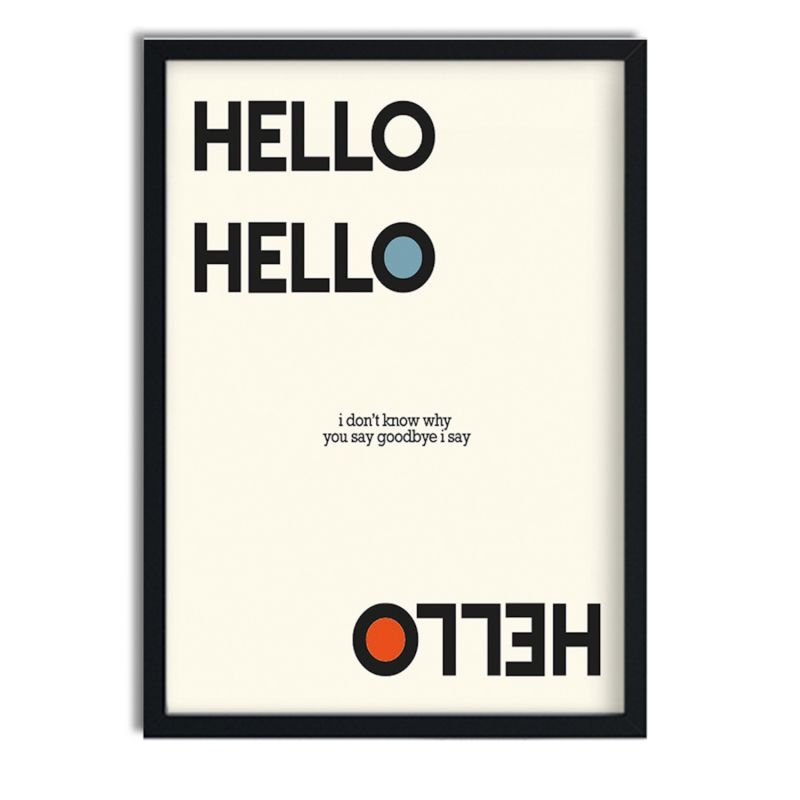 Hello Goodbye Beatles Inspired Retro Giclée Art Print image