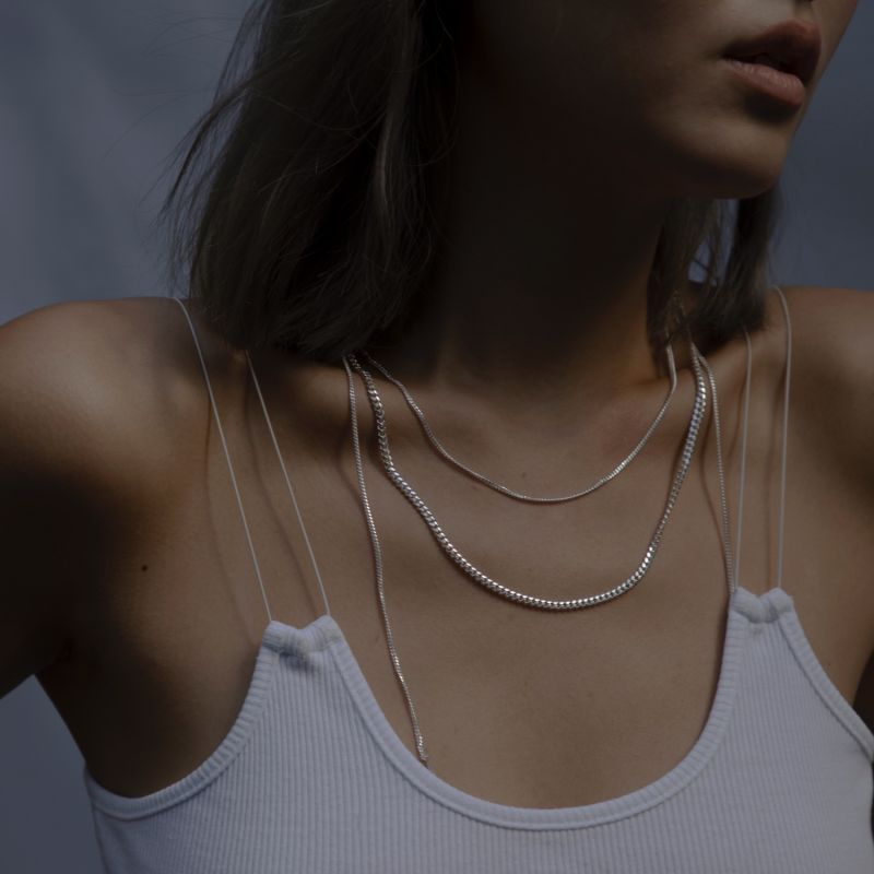 Classic Flat Curb Chain Necklace - Medium image