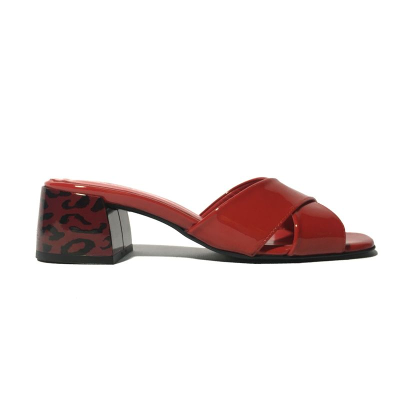 Jada Red Patent Leather Mules image