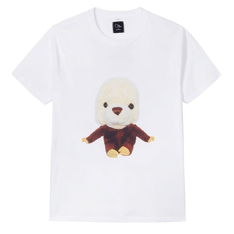 Mobea Crew Neck T-Shirt In White image