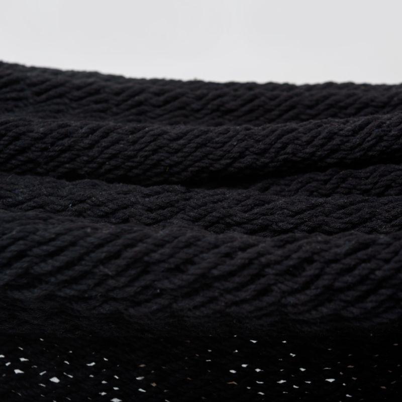 Boho Black Cotton Hammock With Tassels image