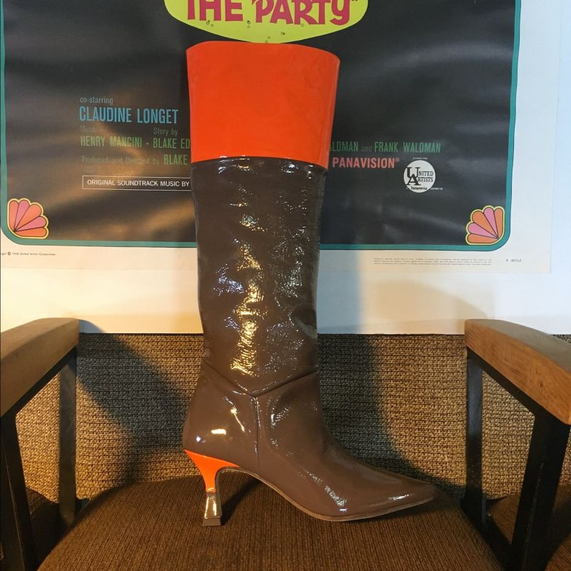 Debbie - Cocoa & Pumpkin Patent Leather High Boots image