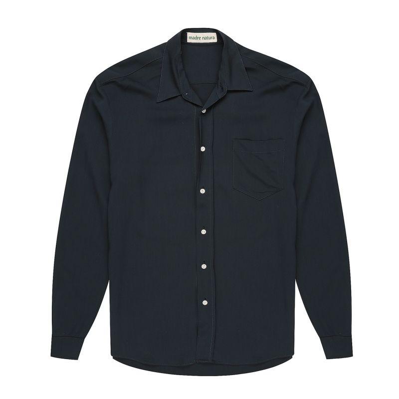 Flannel Navy Viscose Shirt image