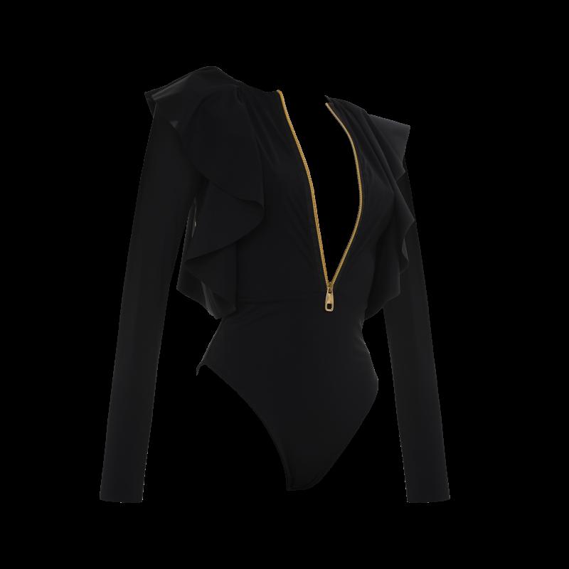 Gossammer One-Piece Swimsuit In Black image