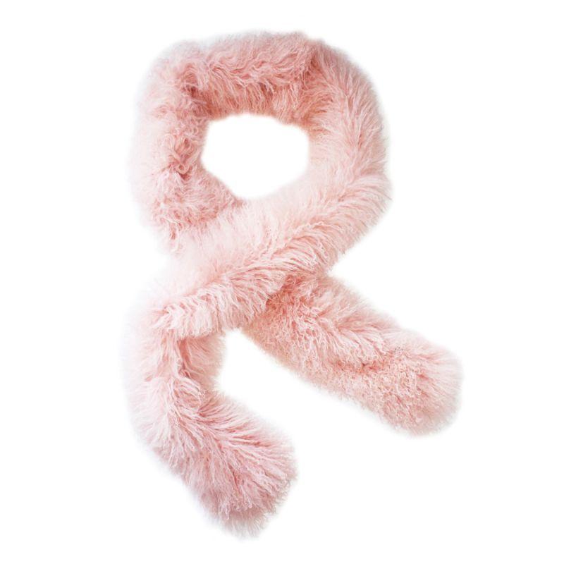 Long Tube Scarf (Powder Pink) image