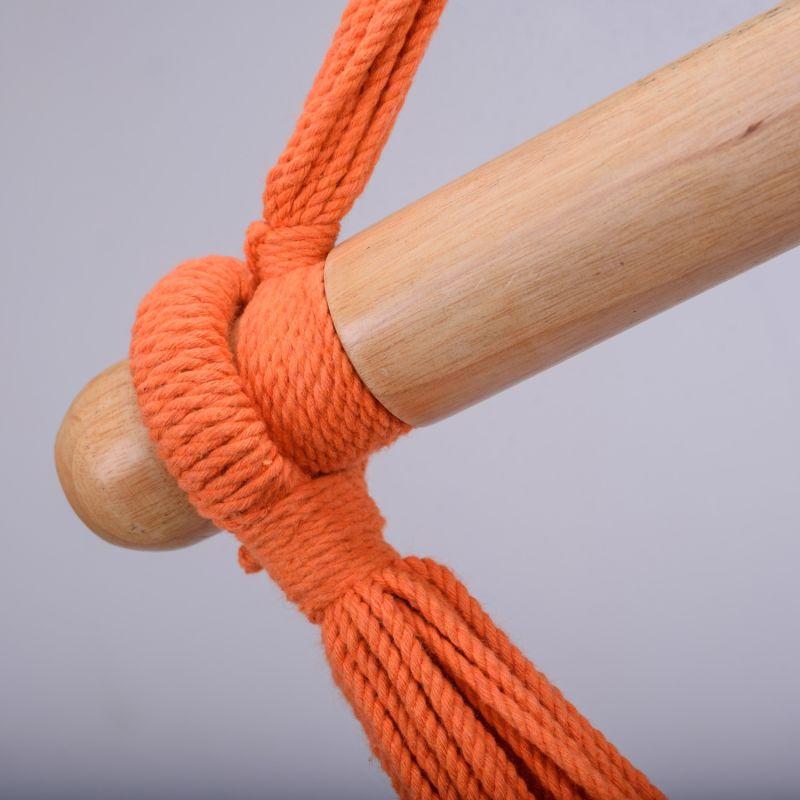 Vivid Orange Cotton Hammock Swing image