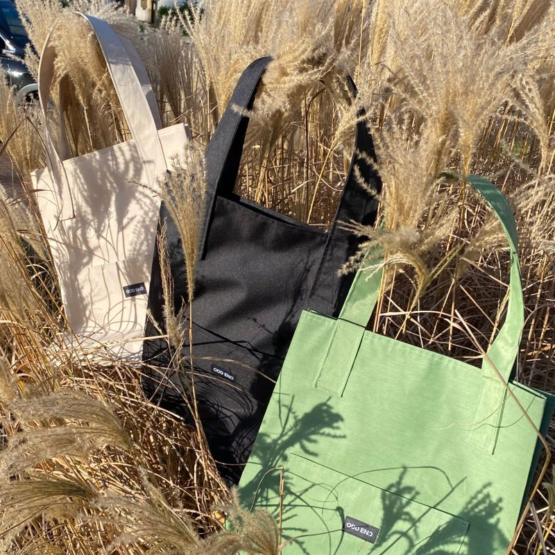 Tall Upcycled Tote Bag - Men's - Green image