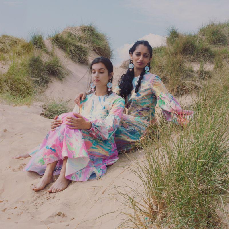 Niram Pink Marbling Midi Dress image