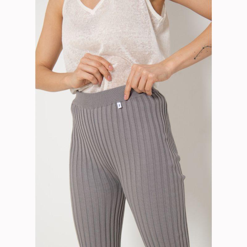 Ribbed Leggings  Grey image