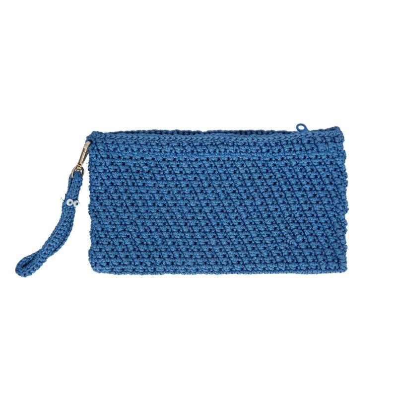 Corfu Crochet Clutch in Blue image