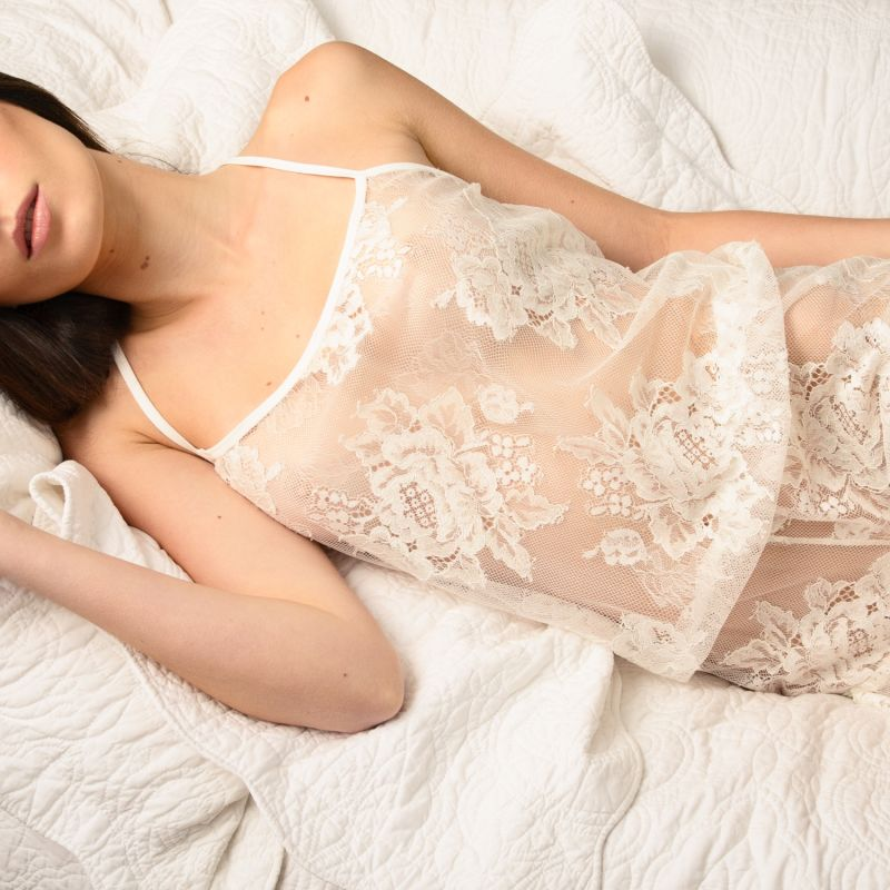 Wales Sheer Floral Lace Jumper - White image