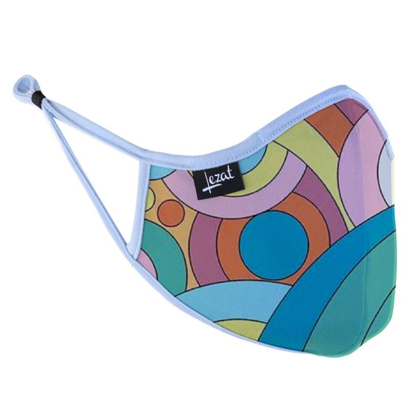 Groovy Rainbow Super Soft Face Mask image