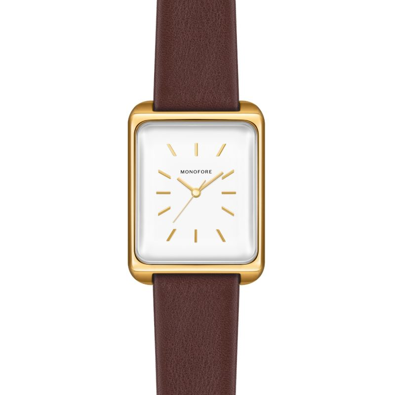 Monofore M01 Gold 35mm - Brown Leather image