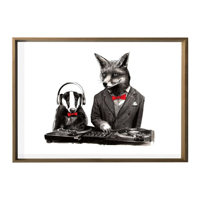 'Dj Fox & Mc Badger' Limited Edition Giclee Print image