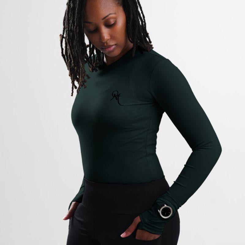 Painite V Neck Long Sleeve Shirt - High Viz image
