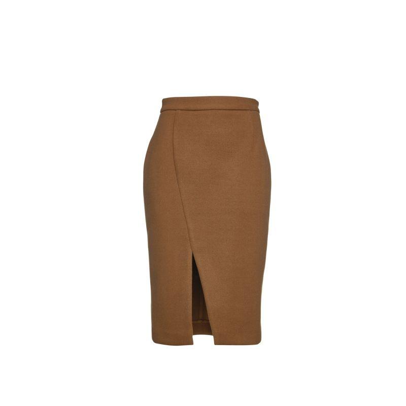 Camel Mouflon Pencil Skirt image