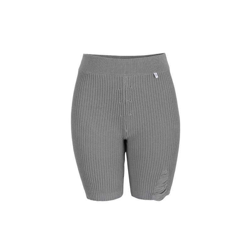 Ribbed Cycling Shorts Grey image