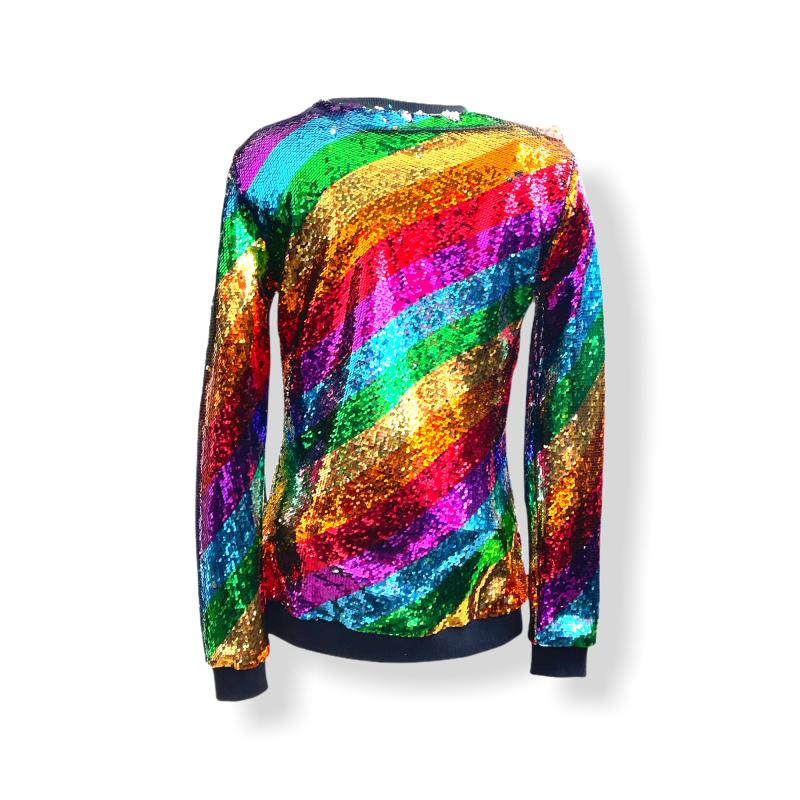 Any Old Iron Men's Rainbow Sweatshirt image