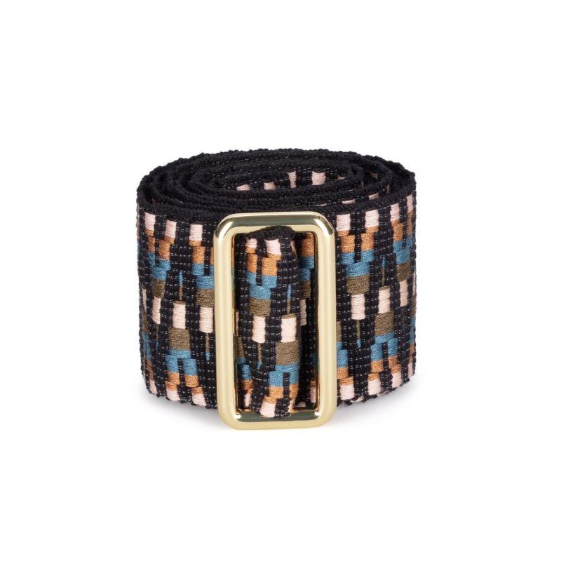 Sunda Jacquard Belt - Black, Brown, Green, Rose Gold image
