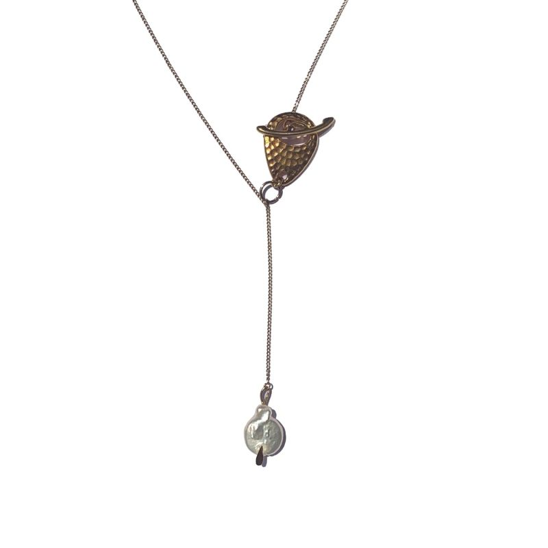 Freshwater Pearl Lariat Necklace image