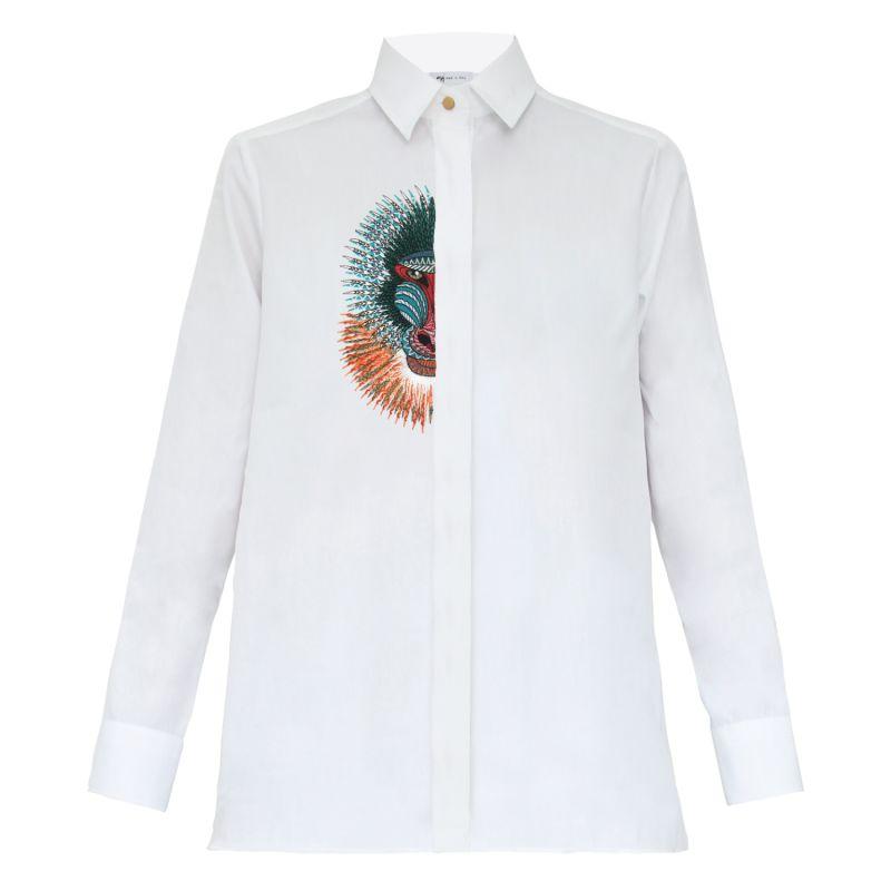 Half Baboon Embroidered Shirt image