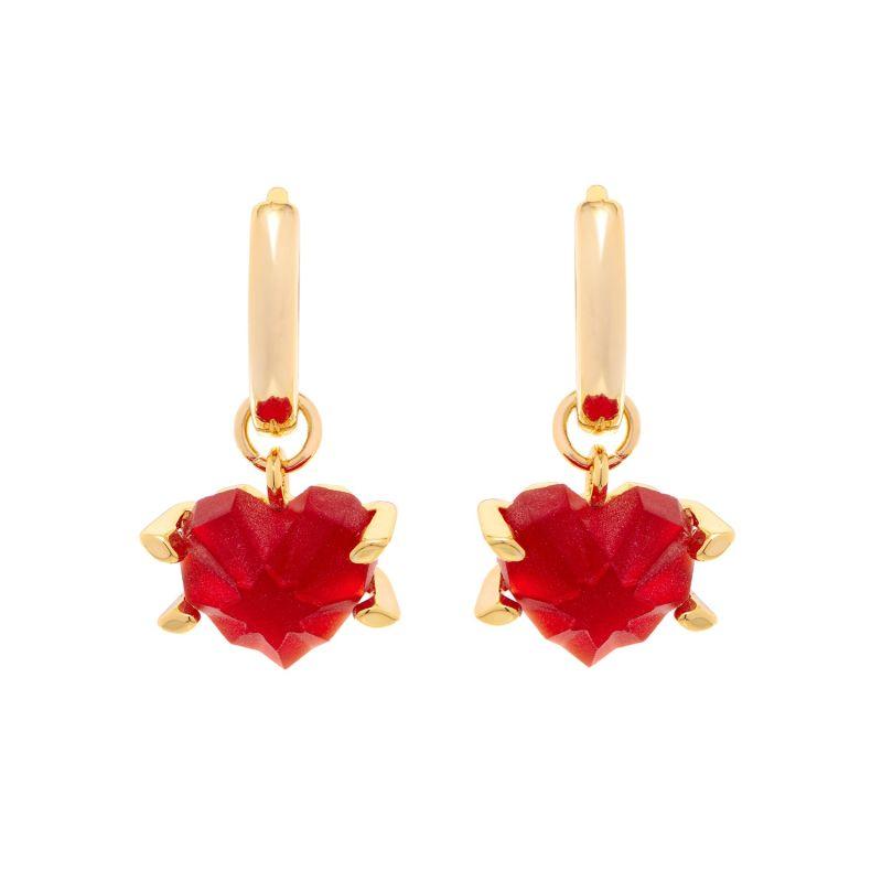 Amour Hoop Earrings Red image