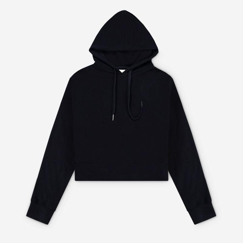Women's Cropped Hoodie Black image