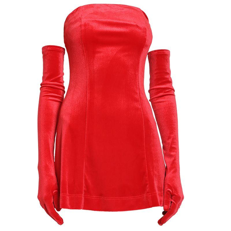 Cupid Dress & Gloves - Red Velvet image