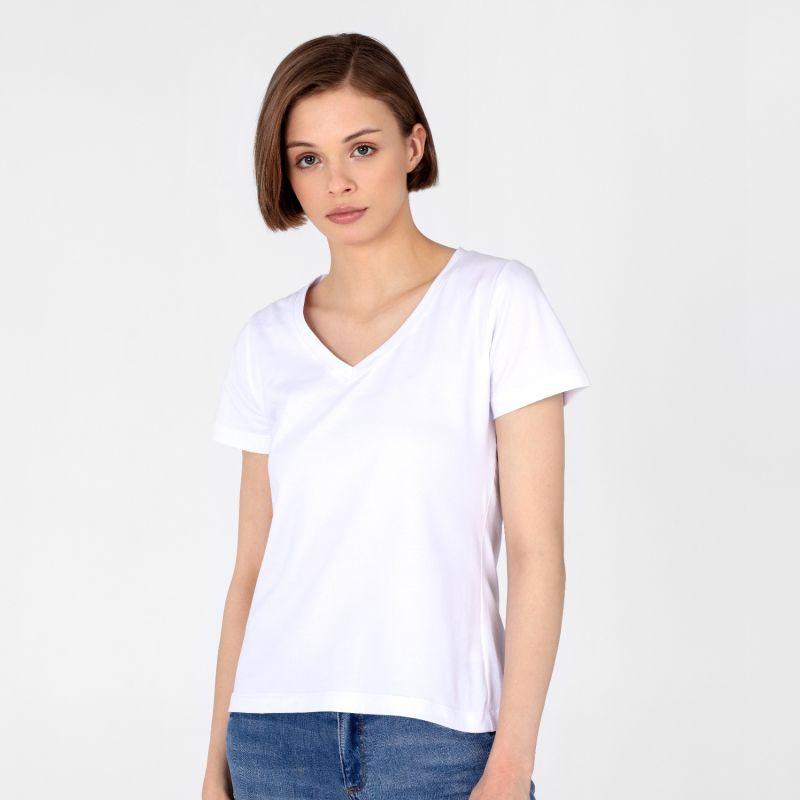 Women's V-Neck T-Shirt White image