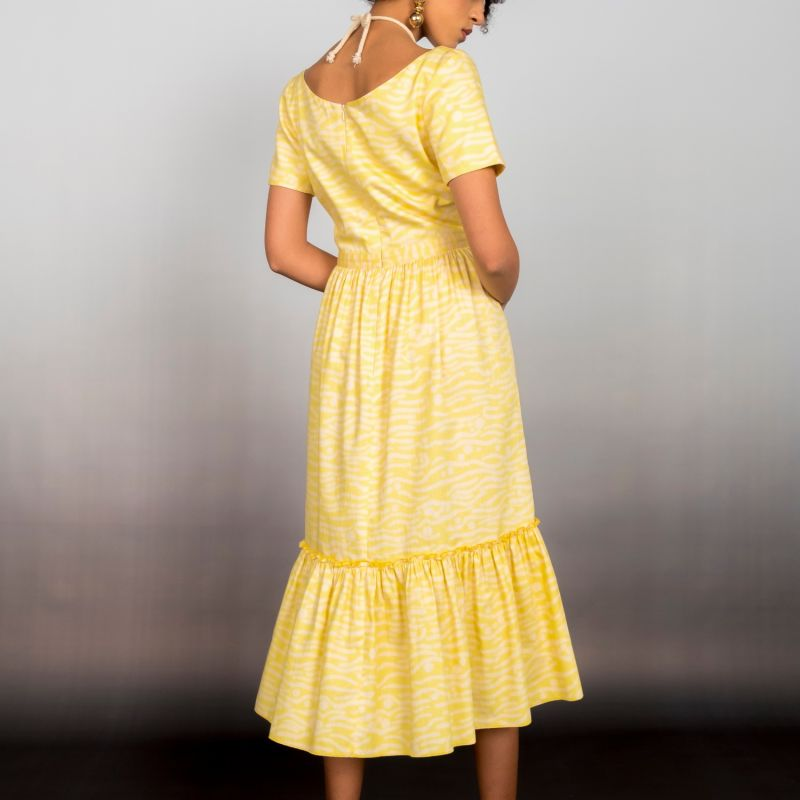 Ruched Cut Out Midi Dress image
