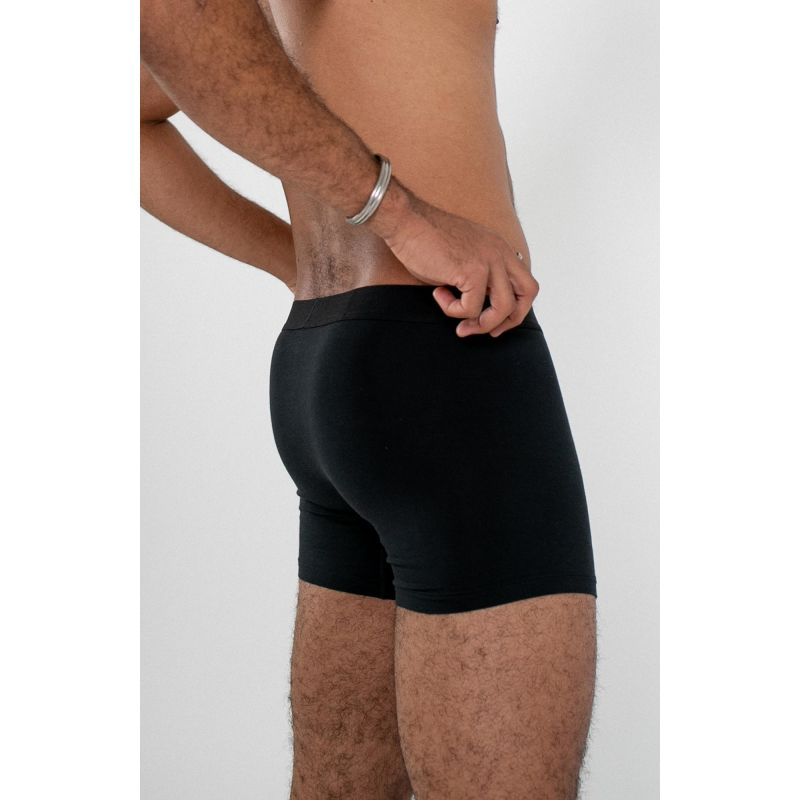 Men's Jersey Boxer Brief - Black image