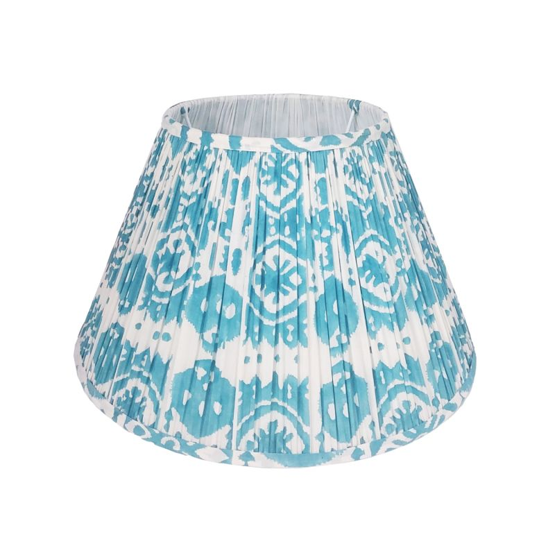 Basa Ikat Block Printed Cotton Lampshade 40cm image
